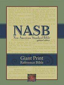 NASB Giant Print Reference Black Genuine Leather