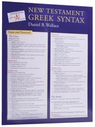 Zondervan Get An A! New Testament Greek Syntax Sheet Chart/card