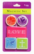 Magnetic Set of 5 Magnets: Love Novelty