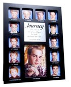 Photo Frame Collage Black: Journey Through the Years Jeremiah 29:11