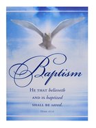 Certificate: Baptism Folded With Dove Stationery