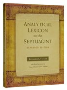 Analytical Lexicon to the Septuagint Hardback