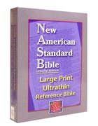NASB Large Print Ultrathin Reference Bible Burgundy Bonded Leather