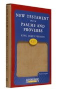 KJV New Testament With Psalms and Proverbs Tan Imitation Leather