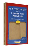 KJV New Testament With Psalms and Proverbs Magnetic Flap Tan