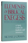 Elements of Biblical Exegesis Paperback