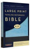 KJV Large Print Thinline Reference Bible Chocolate/Blue (Red Letter Edition) Imitation Leather