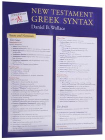 Zondervan Get An A! New Testament Greek Syntax Sheet