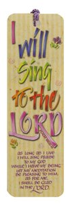 Tassel Bookmark: I Will Sing to the Lord