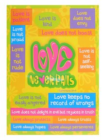 Poster Large: Love Never Fails
