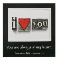 Magnetic Picture Frame: I Love You