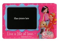Little Miss Grace: Magnetic Photo Frame (Pink Hearts)