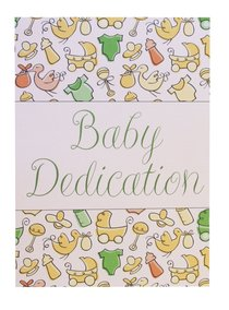 Certificate: Baby Dedication Folded