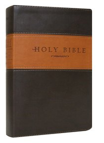 NLT Holy Bible Giant Print Brown/Tan Tu Tone (Red Letter Edition)