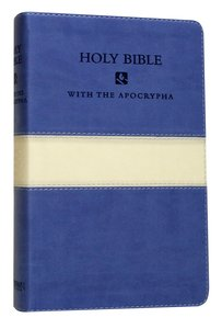 NRSV Deluxe Gift Bible With Apocrypha Blue/Cream Duo-Tone