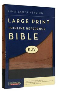KJV Large Print Thinline Reference Bible Cocoa/Black (Red Letter Edition)