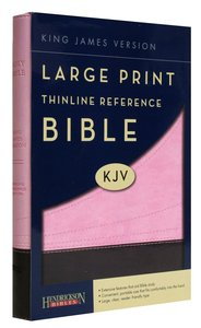 KJV Large Print Thinline Reference Bible Chocolate/Pink (Red Letter Edition)
