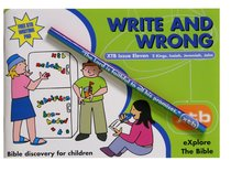 Write and Wrong (#11 in Explore The Bible Series)
