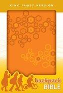 KJV Backpack Bible Techno Orange (Red Letter Edition) Imitation Leather