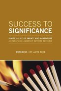 Success to Significance (Member Book) Paperback