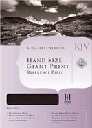 KJV Hand Size Giant Print Reference Burgundy Indexed Bonded Leather