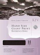 KJV Hand Size Large Print Reference Black Indexed Genuine Leather