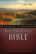 NASB Charles F. Stanley Life Principles Bible Black Thumb Indexed Genuine Leather