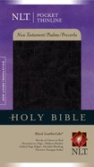 NLT Pocket Thinline New Testament, Psalms & Proverbs Black Imitation Leather