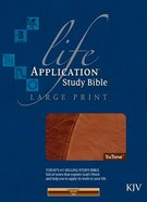 KJV Life Application Study Large Print Brown/Tan Imitation Leather