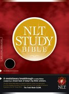 NLT Study Bible Indexed Black Bonded Leather