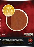 NLT Study Bible Indexed Brown/Tan Imitation Leather