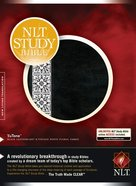 NLT Study Bible Indexed Black Fabric/White Floral (Red Letter Edition) Imitation Leather