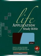 NLT Life Application Study Bible Dark Brown/Twilight Blue Imitation Leather