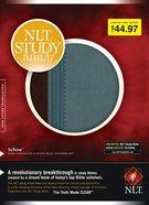 NLT Study Bible Dark Chocolate/Dusty Blue Leatherlike Tutone Imitation Leather