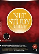 NLT Study Black Genuine Leather