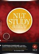 NLT Study Burgundy Genuine Leather