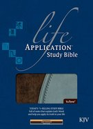 KJV Life Application Study Bible Tutone Dark Chocolate/Dusty Blue Bonded Leather