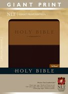 NLT Holy Bible Giant Print Indexed Brown/Tan (Red Letter Edition) Imitation Leather