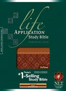 NLT Life Application Study Personal Size Brown/Embellished Coral Tu Tone Imitation Leather