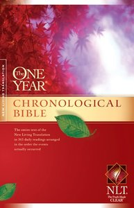 NLT One Year Chronological Bible (Black Letter Edition) (2nd Edition)