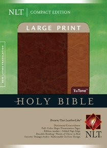 NLT Compact Large Print Bible Indexed Brown Tan (Red Letter Edition)