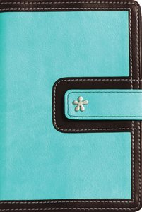 KJV Compact Reference Turquoise/Chocolate Italian Duo-Tone (Red Letter Edition)