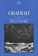 Obadiah (Anchor Yale Bible Commentaries Series)