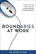 Boundaries At Work Hardback
