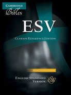 ESV Cambridge Clarion Reference Black (Black Letter Edition) Genuine Leather