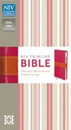 NIV Trimline Italian Duo-Tone Bible Bright Pink/Orange Imitation Leather