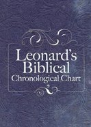 Leonard's Biblical Chronological Chart (Panels Only) Chart/card