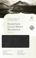 HCSB Hand Size Giant Print Reference Bible Black Bonded Leather Indexed Bonded Leather