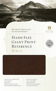 HCSB Hand Size Giant Print Reference Bible Brown Bonded Leather Indexed Bonded Leather