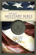 KJV Military Bible Compact Large Print Khaki Green Imitation Leather